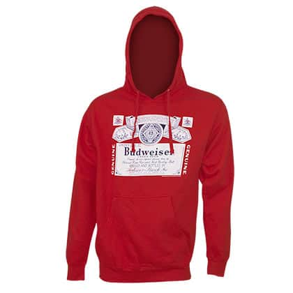 Budweiser Classic Logo Red Hoodie