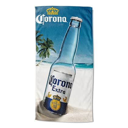 Corona Extra Message In A Bottle Beach Towel