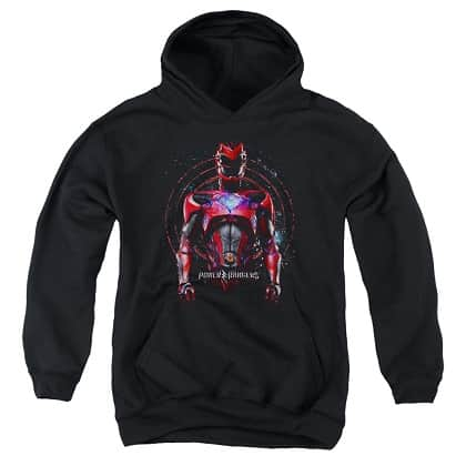 Power Rangers The Movie Red Ranger Black Youth Hoodie